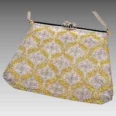Vintage Hand Made in France Purse Micro Beaded French Clutch by Sagil Paris