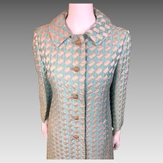 Vintage Abe Schrader BROCADE Lined Coat & Matching Dress - Stunning