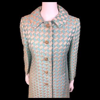 Vintage Abe Schrader BROCADE Lined Coat & Matching Dress - Stunning
