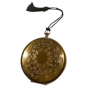 Zell Fifth Avenue Goldtone Pocket Watch Style w/ Black Tassel