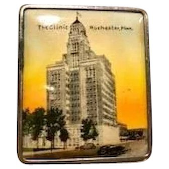 Vintage Souvenir Compact - The Clinic Rochester, Minn.
