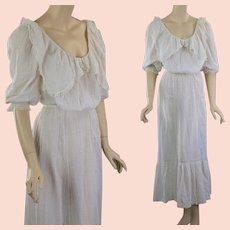 Antique Victorian white tea dress