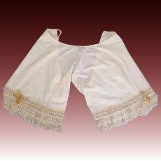 Antique Victorian fancy lace pantaloons