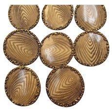 Antique Edwardian era  buttons set of 11 matching