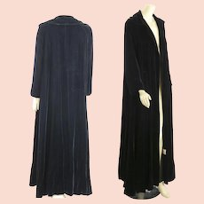 Vintage 60s black velvet opera coat evening cocktail party coat Candi Wrap coat