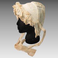 Antique 19C Victorian women's morning bonnet
