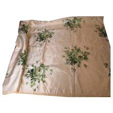 Early 19th Century Edwardian velvet burnout silk fabric yardage