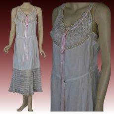 Antique Victorian  combination garment white chemise petticoat slip