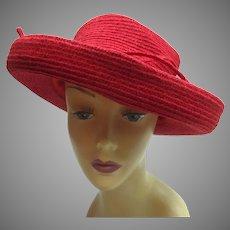 Vintage 90s Designer Scala Hat