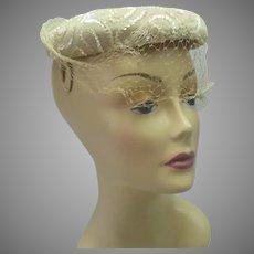 Vintage 1950s sequin hat