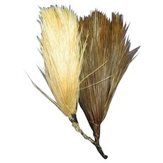 Antique ostrich feather plumes millinery