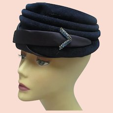 Vintage 1950s Pillbox hat hat