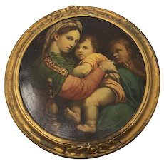 Madonna of the chair - copy on ceramic frame