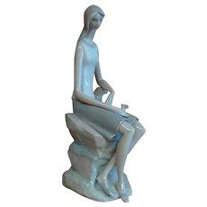"Lladro # 4695 ""Meditating"" porcelain figurine"