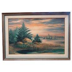 Scott Fitzgerald landscape oil painting