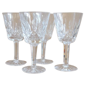 Waterford Claret glasses, stems set of 4 - 5 7/8 inches tall