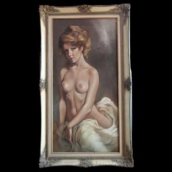 Leo Jansen oil painting, Sitting Nude 20th century