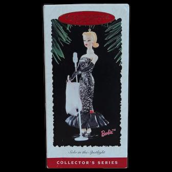 """Barbie Ornament 1995 """"Solo in the Spotlight""""  Hallmark Collector's Series"""