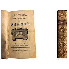 Medicine ANTIQUE BOOK Obstetric-Anfangsgründe der Geburtshülfe-author Plenk 1768