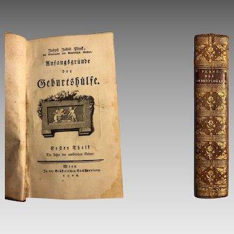Medicine ANTIQUE BOOK Obstetric-Anfangsgründe der Geburtshülfe-author Plenk 1768