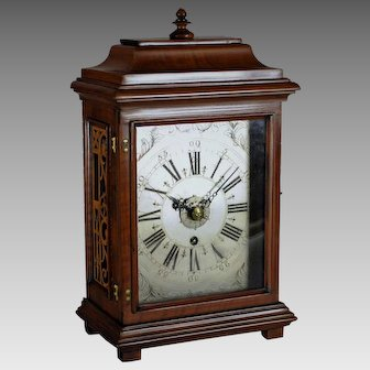 Antique Italian Bracket Alarm Clock, XVIII Century.