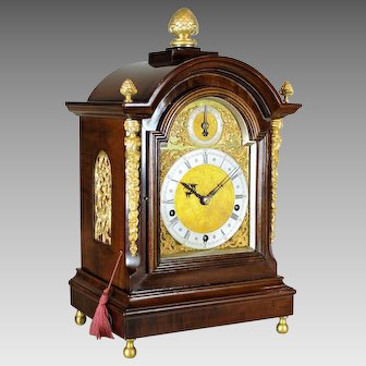 "English Victorian ""Bracket"" Clock, Hours and Quarters Striking, circa 1820"