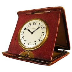 Folding Quarter Repeating Travel Clock by BEAUCHAMP circa 1910