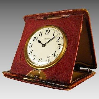 Folding Quarter Repeating Travel Clock by BEAUCHAMP circa 1910