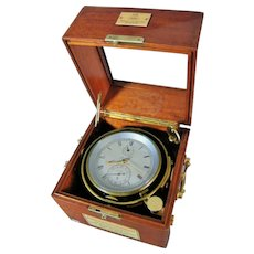 "German Marine Chronometer ""Glashutte N°.10291"", Ship Clock, circa 1930"