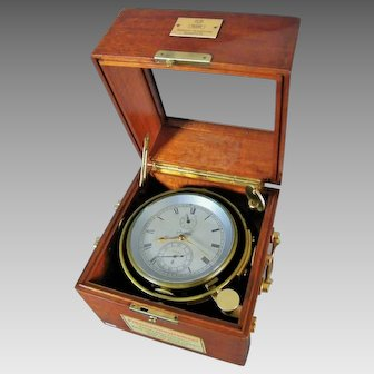 "German Marine Chronometer ""Glashutte N°.10291"", Ship Clock, circa 1930"