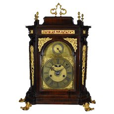 Antique Italian Quarter Striking and Alarm clock, Rome XVIII century