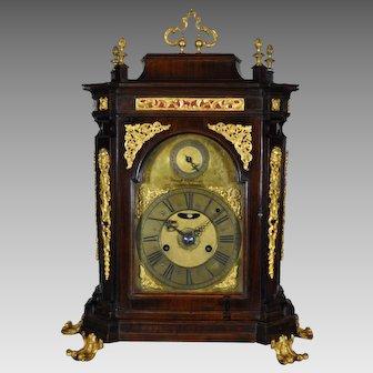 Antique Italian Quarter Striking and Alarm clock, Rome XVIII century