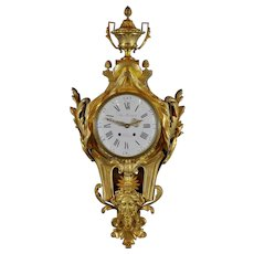 Large French Cartel Clock, Circa