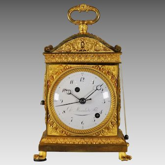 "Antique ""Pendule de Voyage"" Swiss travel clock, Circa 1800"