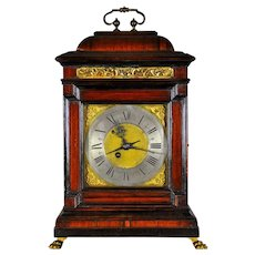 "Antique Italian ""BRACKET"" Clock with Alarm, Rome circa 1740"
