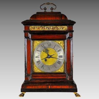 "Antique Italian ""BRACKET"" Clock with Alarm, Rome circa 1740"