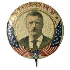 "Pinback Teddy Roosevelt ""victory"""