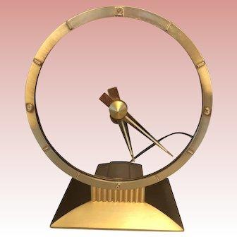 "Mid-Century Jefferson ""Golden Hour"" Mystery Clock,  Dated 12/3/1953."