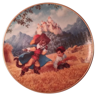 """Classic Fairy Tales by Edwin Knowles """"Puss in Boots"""" Collector's Plate 1992"""