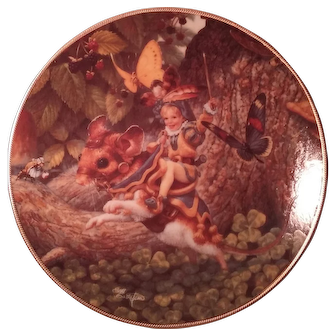 """Classic Fairy Tales by Edwin Knowles """"Tom Thumb"""" Collector's Plate 1992"""