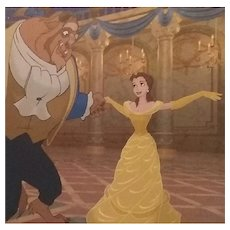 "Disney's Beauty and the Beast Ballroom Dancing Lithograph Princess Belle 11""x14"""