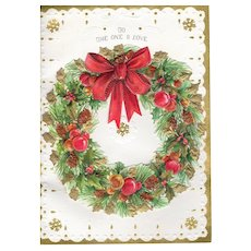 "Vintage Pre-owned Hallmark Christmas Holiday Greeting Card ""To the One I Love"""