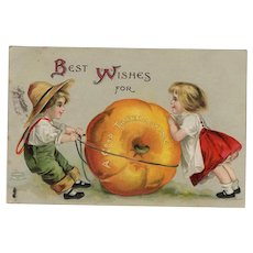 1908 Vintage Thanksgiving Postcard