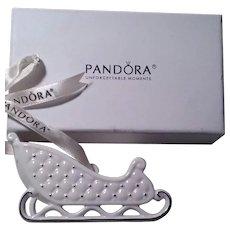 Pandora Porcelain Sleigh Holiday Ornament 2014