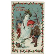 Raphael Tuck Original Christmas Postcard c 1912