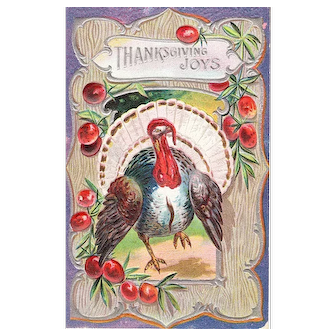 1910 Vintage Thanksgiving Postcard