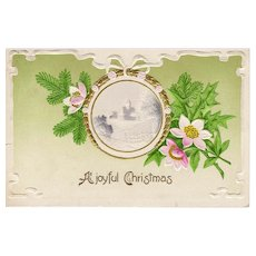 Circa 1909  Antique Christmas Holiday Florals Postcard