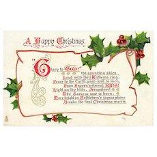 Vintage Raphael Tuck and Sons Christmas Postcard