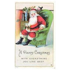 Circa 1916 Antique Christmas Santa Postcard Collectible