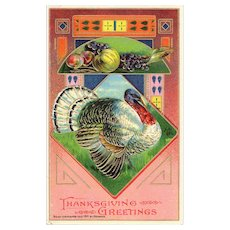 Unused Circa 1912 Antique Thanksgiving Greetings Postcard by Heymann